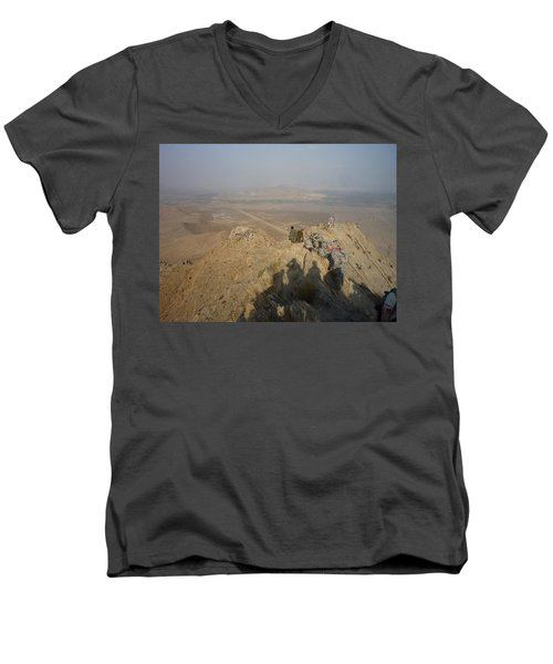 On Top Of A Mountain Men's V-Neck T-Shirt
