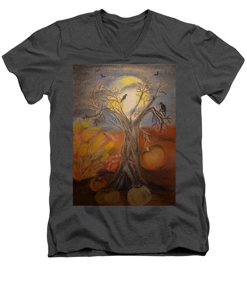 One Hallowed Eve Men's V-Neck T-Shirt by Maria Urso