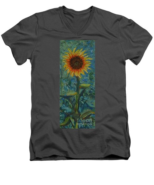 One Sunflower - Sold Men's V-Neck T-Shirt