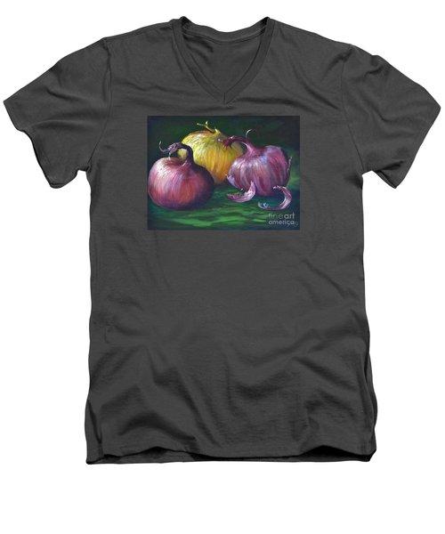 Onions Men's V-Neck T-Shirt by AnnaJo Vahle