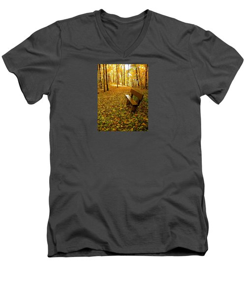 Men's V-Neck T-Shirt featuring the photograph Only Lovers Are Missing by Zafer Gurel