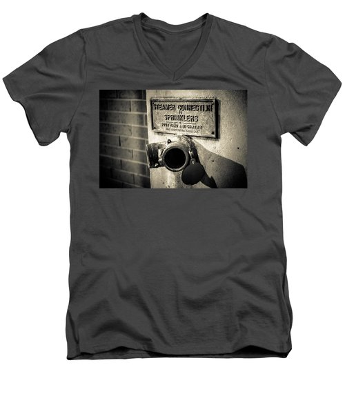Open Sprinkler Men's V-Neck T-Shirt by Melinda Ledsome
