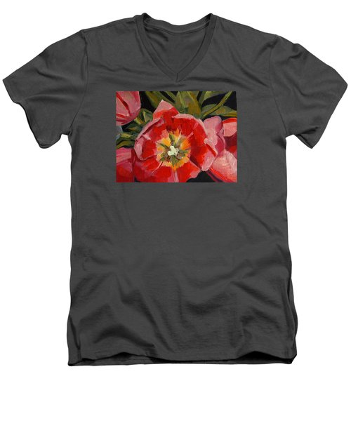 Opening Men's V-Neck T-Shirt by Pattie Wall
