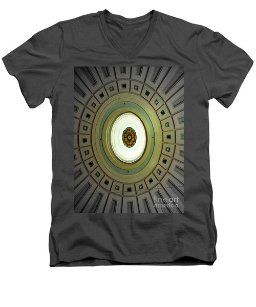 Optical Illusion  Men's V-Neck T-Shirt by Kevin Fortier