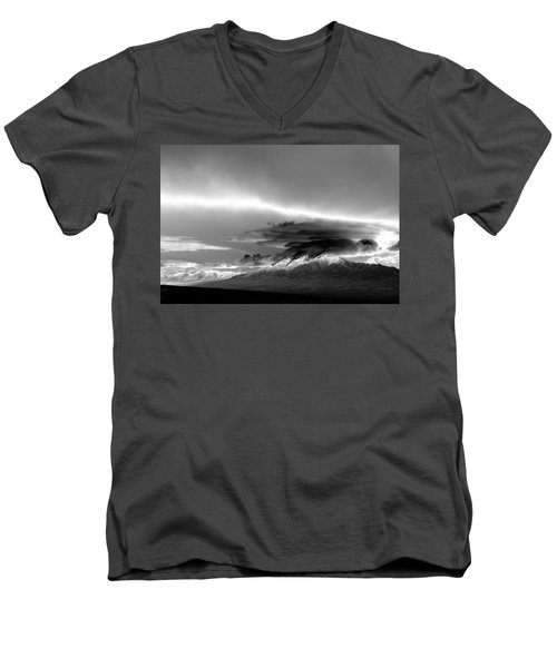 Men's V-Neck T-Shirt featuring the photograph Oquirrh Range Utah by Ron White