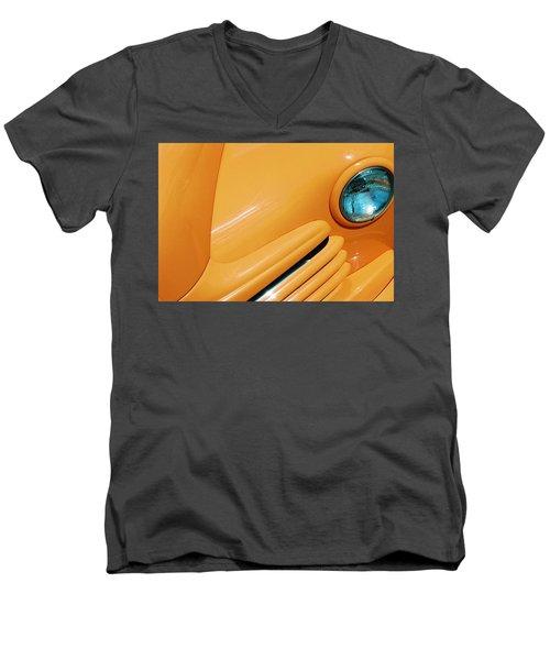 Orange Car Men's V-Neck T-Shirt