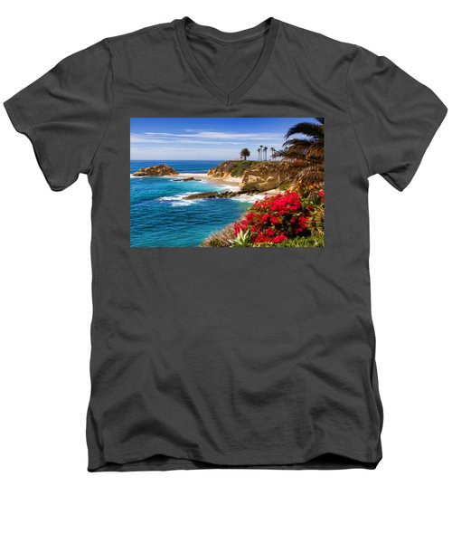 Orange County Coastline Men's V-Neck T-Shirt