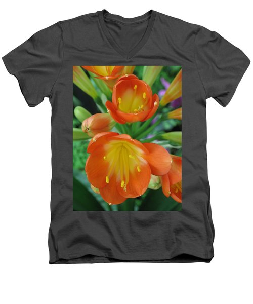 Orange Crush Men's V-Neck T-Shirt
