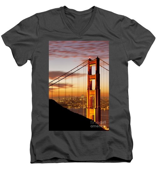 Orange Light At Dawn Men's V-Neck T-Shirt