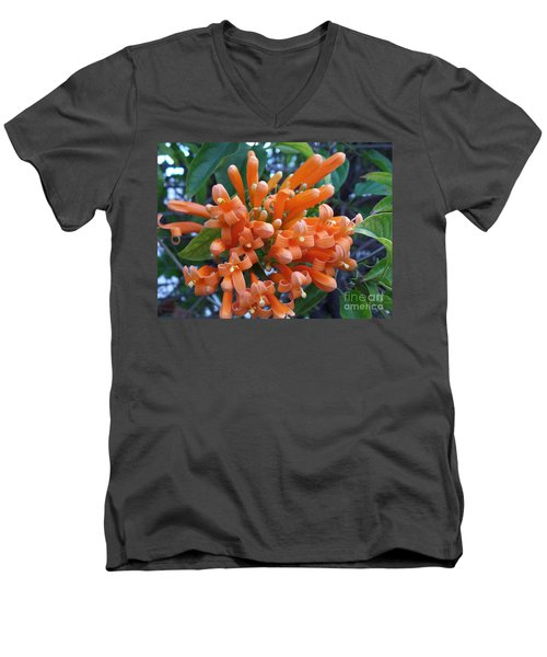 Orange Petals Men's V-Neck T-Shirt
