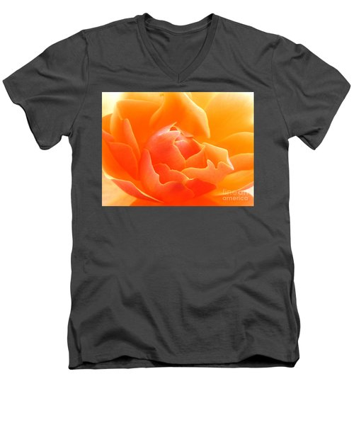 Orange Sherbet Men's V-Neck T-Shirt