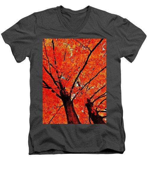 Orange...the New Green Men's V-Neck T-Shirt by Daniel Thompson