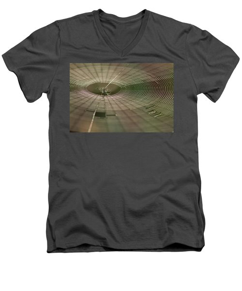 Men's V-Neck T-Shirt featuring the photograph Orchard Orbweaver #1 by Paul Rebmann
