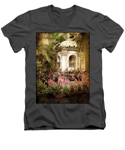 Orchid Exhibition Men's V-Neck T-Shirt