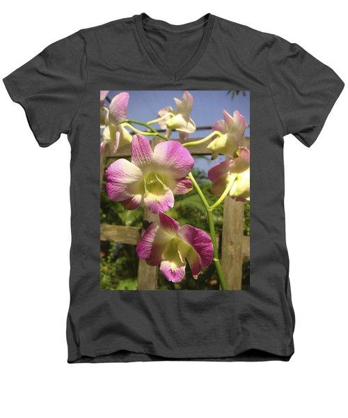 Orchid Splendor Men's V-Neck T-Shirt