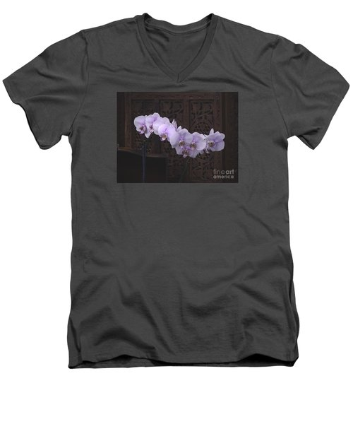Men's V-Neck T-Shirt featuring the photograph Orchids Loretta by The Art of Alice Terrill