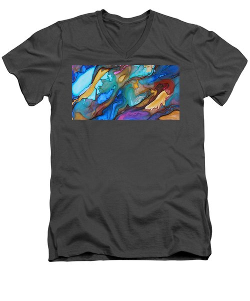Organic Men's V-Neck T-Shirt by Angel Ortiz