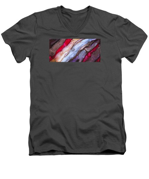 Organico Xvlll Men's V-Neck T-Shirt by Angel Ortiz
