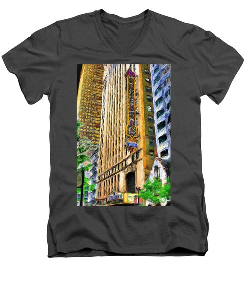Oriental Theater Of Chicago Men's V-Neck T-Shirt