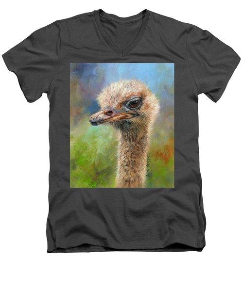 Ostrich Men's V-Neck T-Shirt