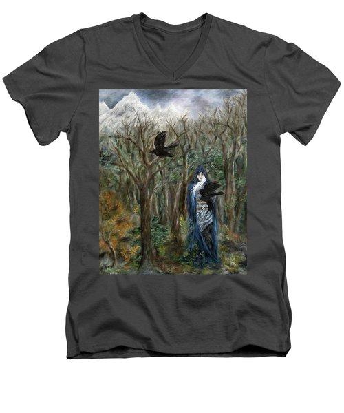 The Raven God Men's V-Neck T-Shirt