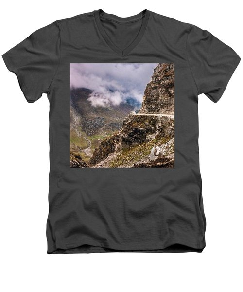 Our Bus Journey Through The Himalayas Men's V-Neck T-Shirt