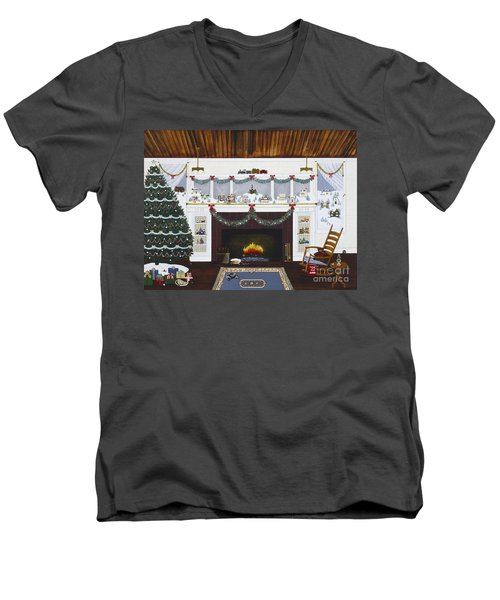 Our First Holiday Men's V-Neck T-Shirt by Jennifer Lake