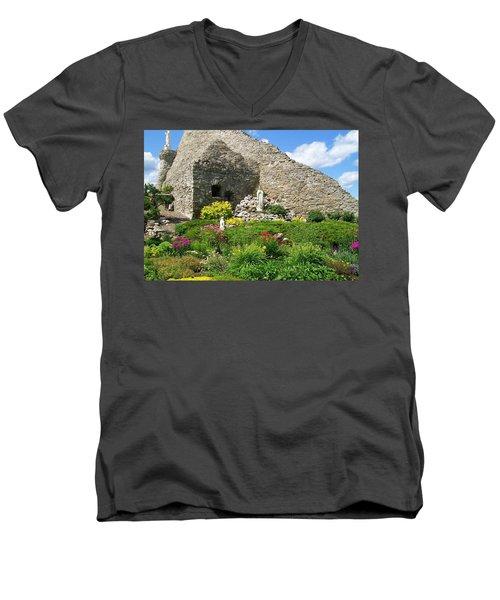 Our Lady Of The Woods Shrine Ll Men's V-Neck T-Shirt