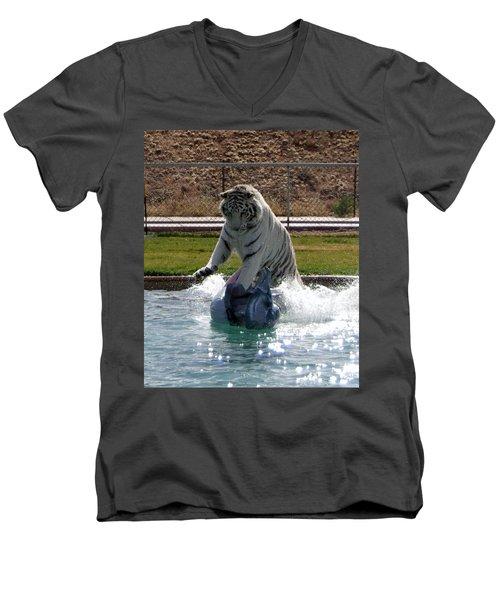 Out Of Africa Tiger Splash 1 Men's V-Neck T-Shirt