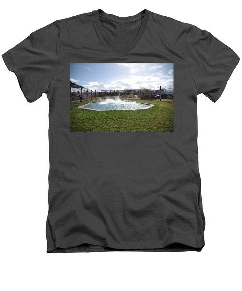 Out Of Africa Tiger Splash 9 Men's V-Neck T-Shirt