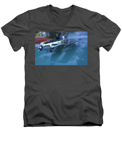 Men's V-Neck T-Shirt featuring the photograph Out Of The Metal by Laurie Perry