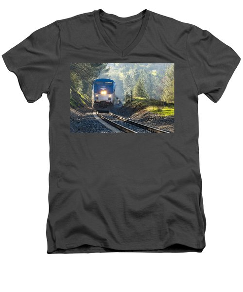 Out Of The Mist Men's V-Neck T-Shirt by Jim Thompson