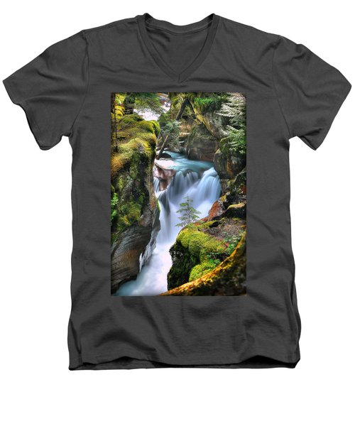 Out On A Ledge Men's V-Neck T-Shirt