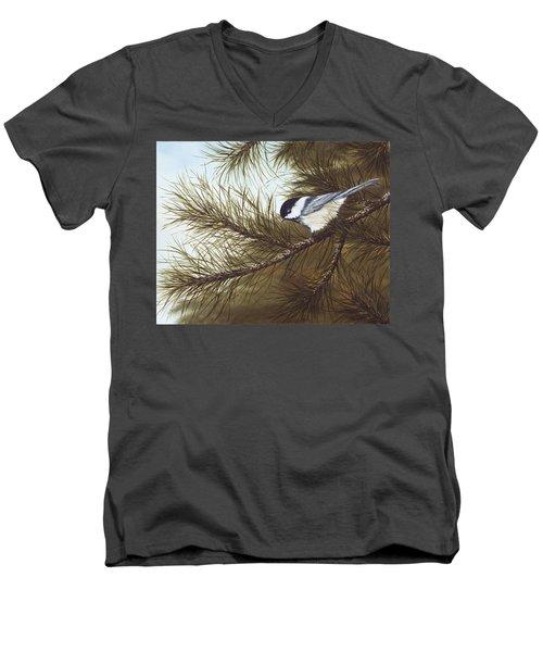 Out On A Limb Men's V-Neck T-Shirt by Rick Bainbridge