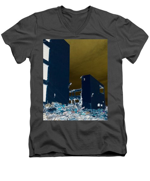 Men's V-Neck T-Shirt featuring the photograph Out With The Old by J Anthony