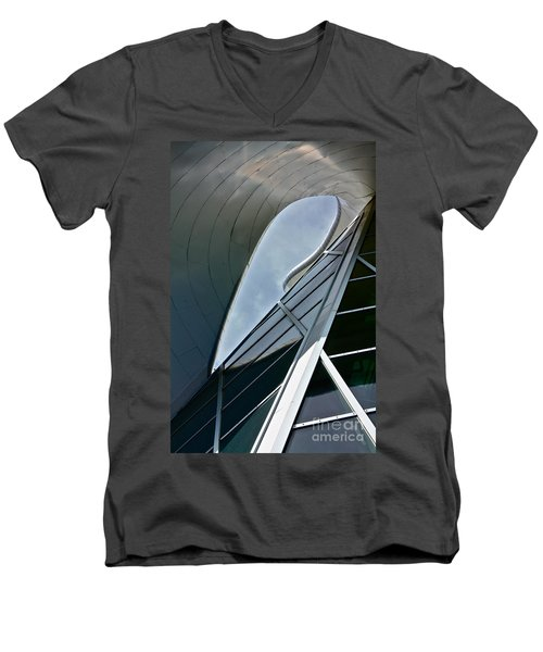 Outer Space Men's V-Neck T-Shirt by Linda Bianic