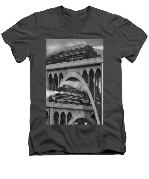 Over And Under Men's V-Neck T-Shirt