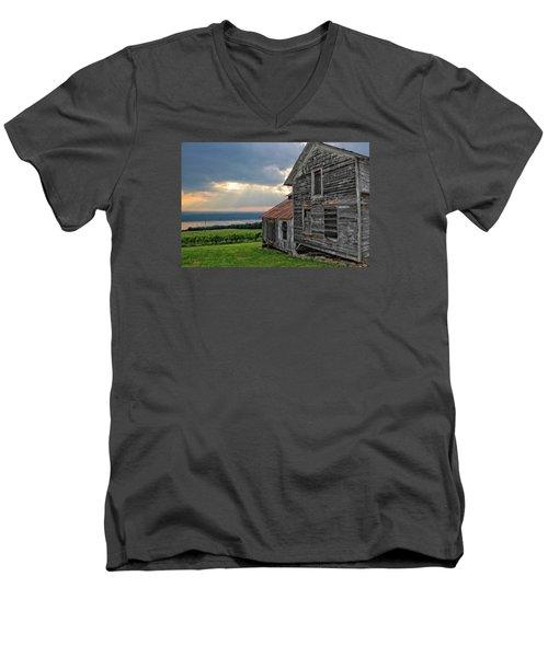 Over The Field Men's V-Neck T-Shirt