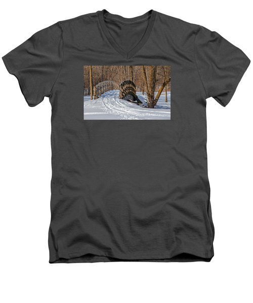 Over The River And Through The Woods Men's V-Neck T-Shirt by Susan  McMenamin