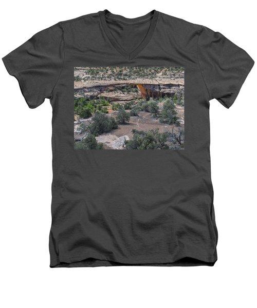 Owachomo Natural Bridge Men's V-Neck T-Shirt