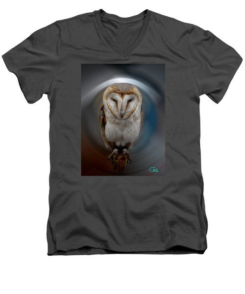 Owl Alba  Spain  Men's V-Neck T-Shirt