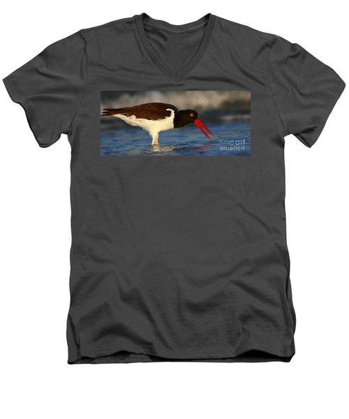 Oystercatcher In Surf Men's V-Neck T-Shirt