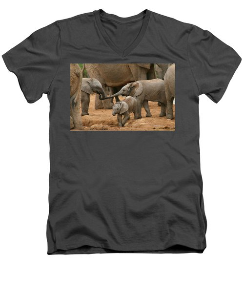Pachyderm Pals Men's V-Neck T-Shirt