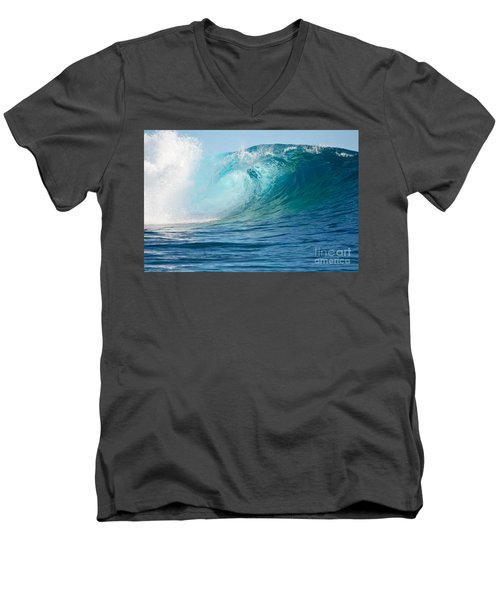 Pacific Big Wave Crashing Men's V-Neck T-Shirt by IPics Photography