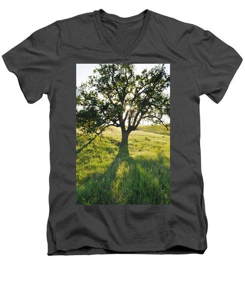 Men's V-Neck T-Shirt featuring the photograph Pacific Coast Oak Malibu Creek by Kyle Hanson