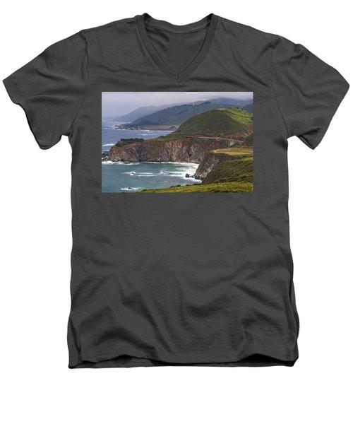 Pacific Coast View Men's V-Neck T-Shirt