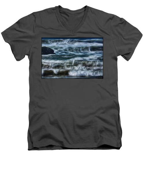 Pacific Waves Men's V-Neck T-Shirt