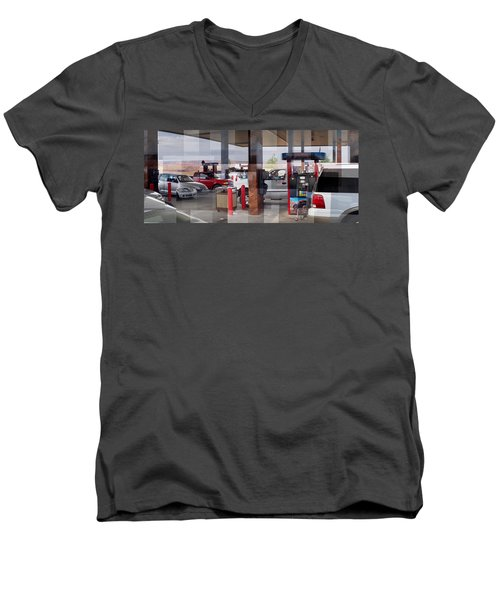 Page Gas Men's V-Neck T-Shirt