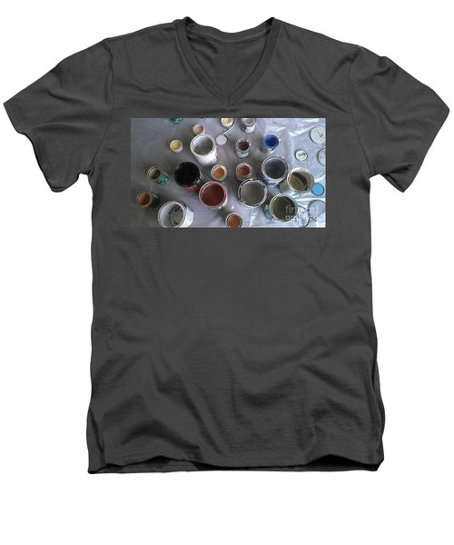 Men's V-Neck T-Shirt featuring the photograph Paint by Chris Tarpening