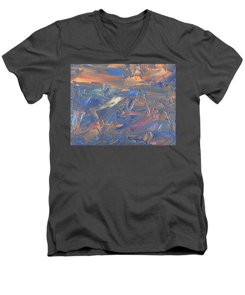 Paint Number 58c Men's V-Neck T-Shirt